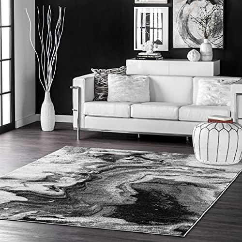 nuLOOM Abstract Area Rug, 5' x 8', Grey