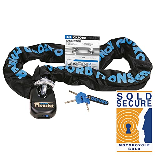 Oxford OF801 Monster Chain and Padlock 12mm x 1.2 meters
