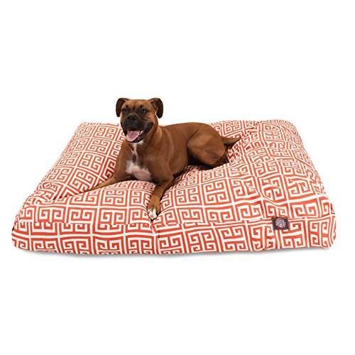 Orange Towers Small Rectangle Indoor Outdoor Pet Dog Bed With Removable Washable Cover By Majestic Pet Products