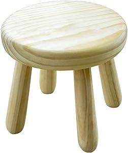 Fußhocker Polsterhocker Premium-Qualität Komfort Massivholz Fußhocker Naturholz Runde Osmanischen Hocker Schlafzimmer Wohnzimmer Esszimmer (27.5cmx25cm) für Zuhause & Gewerbe