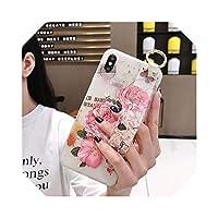 ローズフラワーフローラルリストストラップFor iPhoneケース1211 Pro MAX X XR XS MAX 7 8 Plus 66SハンドバンドソフトTPUシリコンカバー-Flower 348-for iphone XS