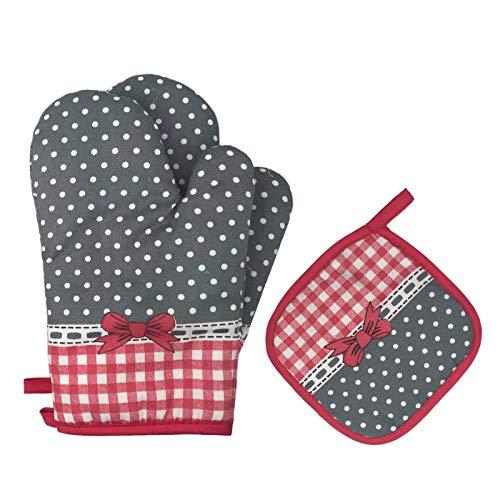 Gants de Four et maniques Gants de Cuisine Résistant à Chaleur et Antidérapant Maniques pour Barbecue Cuisine adaptés pour la Cuisson la Cuisson Le Grillage