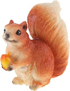 Ornamento di scoiattolo Statua in miniatura di resina animale da giardino di