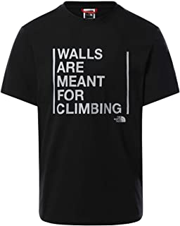 The North Face mens M S/S WALLS ARE FOR CLIMBING TEEEU T-Shirt