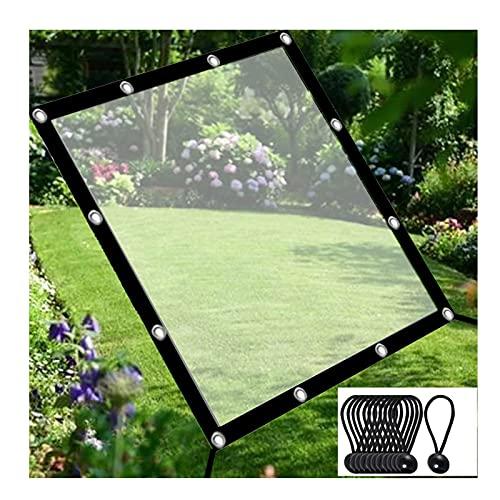 LJIANW-lonas impermeables exterior, Impermeable Lona Transparente, Tarea Pesada Hoja De Lona con Ojales AntiI-UV A Prueba De Viento Plegable Dosel De La Planta para Jardinería Cámping