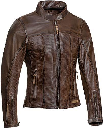 Ixon Motorradjacken Crank Air Lady Braun, Braun, L