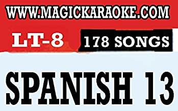 Magic Sing Karaoke Mic Songchips SPANISH 13 (LT8) for ET23KH, ET25K, ET25KN, ET19KV, ET18K, ET9K, ED9000, ED8000, ED7000, ED6000, ED11000, LEADSINGER LS2100,2700, LS3700
