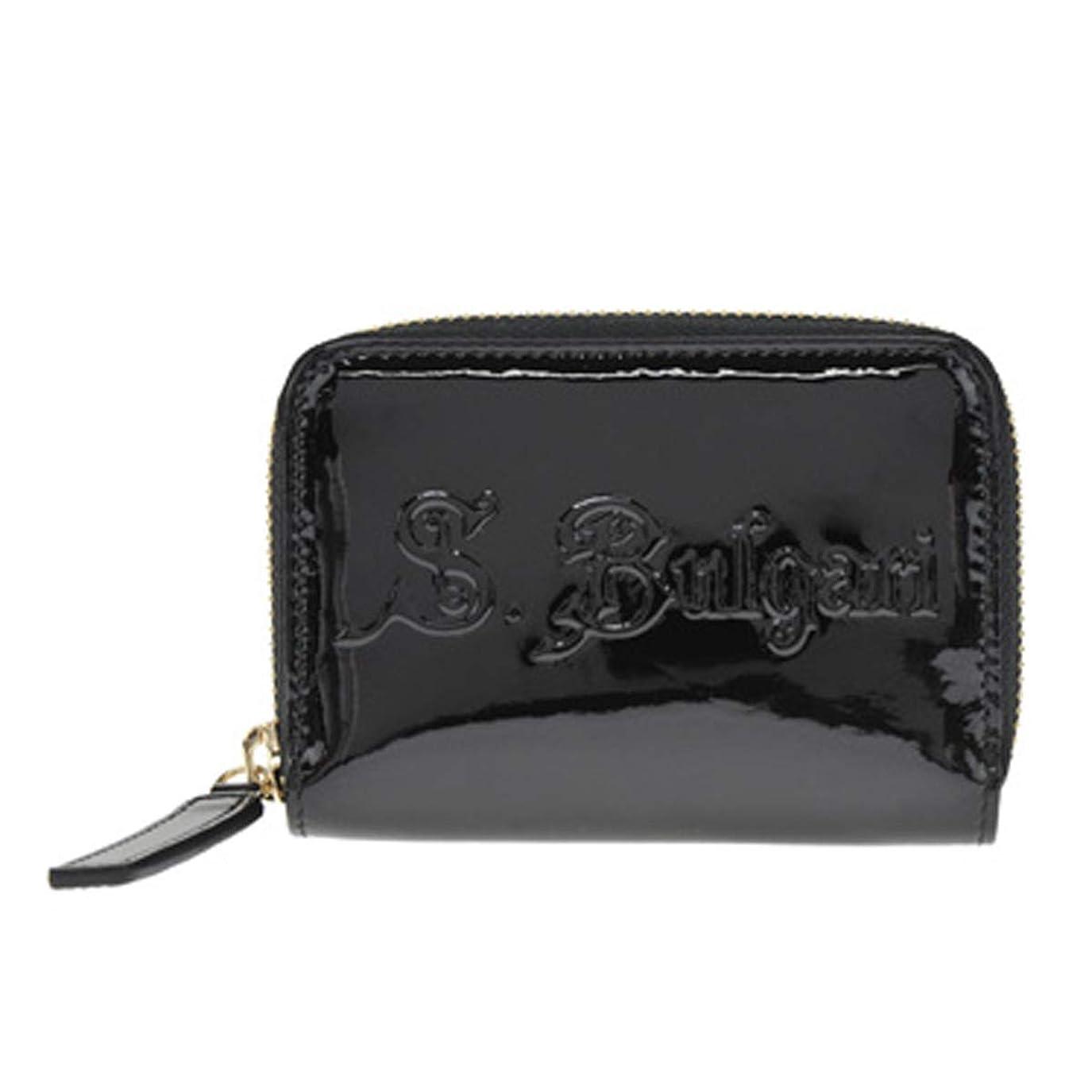 統合黒コスチューム[ブルガリ] 小銭入れ コインケース コインパース 31711 Mini zipped wallet S.BULGARI Black ブラック [並行輸入品]