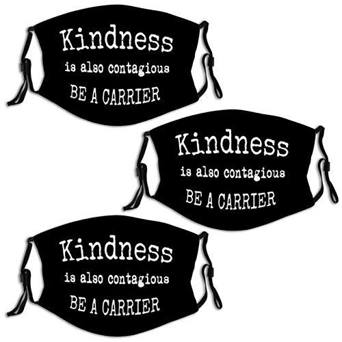 Kindness is Contagious Corona-Virus 3PCS Face Mask Bandana Scarf Reusable Adjustable Washable for Comfortable Outdoor Men Women