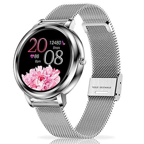 LIYIFANKJ Reloj Inteligente Mujer Smartwatch IP67 Impermeable Fitness Tracker Reloj Deportivo con Podómetro Pulsómetros Monitor de Sueño Compatible con iOS Android