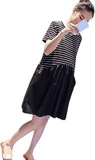 5928e22c1 LF stores Vestido de Maternidad Vestido de Verano Camiseta Falda Lino de  algodón Camisa Suelta de