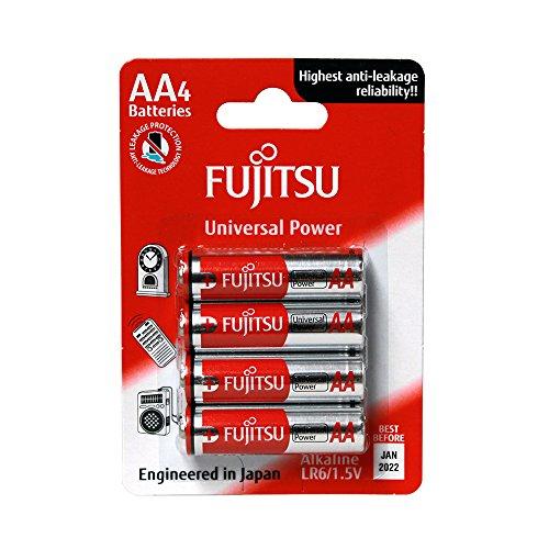 Fujitsu FB86300 - Pack de 4 baterías alcalinas Universal Power (LR6 FU,...