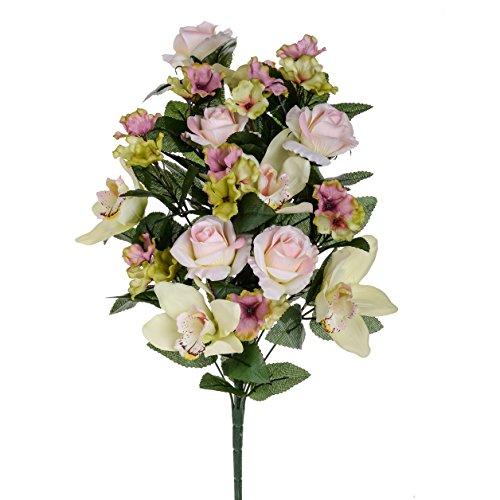 Blancs Dino fc018 _ 03.JPG Frontale Roses/Cymbidium, Acrylique, Blanc, 16 x 30 x 53 cm