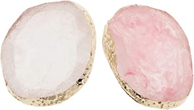 Baoblaze 2X Nail Art Palette Jewelry Display Pad Imitation Agate Charms Pendant Decor
