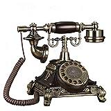 SXRDZ Línea Fija de la Vendimia Europea, línea de giradiscos con Cable Retro, Regalo de decoración de la Oficina de la Oficina de la Oficina del teléfono Fijo Retro del Vintage clásico