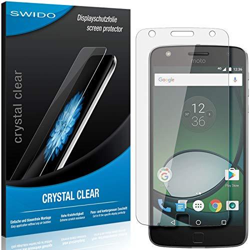 SWIDO Schutzfolie für Lenovo Moto Z Play [2 Stück] Kristall-Klar, Hoher Festigkeitgrad, Schutz vor Öl, Staub & Kratzer/Glasfolie, Bildschirmschutz, Bildschirmschutzfolie, Panzerglas-Folie