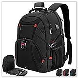 Extra Large Laptop Backpack 17 Inch Travel Waterproof Backpacks College School Business Men Laptops Backpacks with USB Charging Port 17.3 Gaming Computer Backpack for Men Black