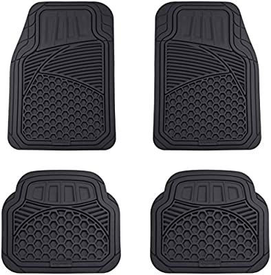 AmazonBasics 4 Piece Heavy Duty Car Floor Mat