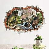 WOKAO Película Jurassic Park Dinosaurio Pegatinas de Pared de Animales para Habitaciones de niños...