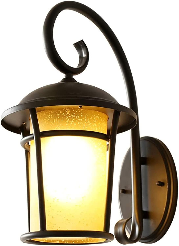 ZJING Lampada da Parete Creativa in Ferro Battuto, Stile Industriale Moderno, Adatta tuttia Decorazione Illuminazione Notturna di Cortili Interni Ed Esterni (Senza Fonte di Luce)