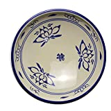 KEKEYANG Blu e bianca ceramica piatto fondo piatto fondo scodella Piatto Riso piatto piatto commerciale domestica Retro cinese da tavola Blue Plate bordo 9 pollici Piatti