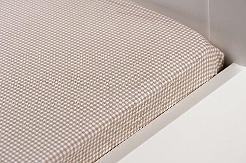 Hoeslaken, geweven, 100% katoen 90 cm x 200 cm GABRIEL 90 x 200 cm taupe