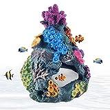 HIMBIU Acuario Coral Arrecife Decoración, Colorido Resina Artificial Coral Plantas Decoración De La Cueva para El Acuario De Peces Marinos Ornamento De Montaña