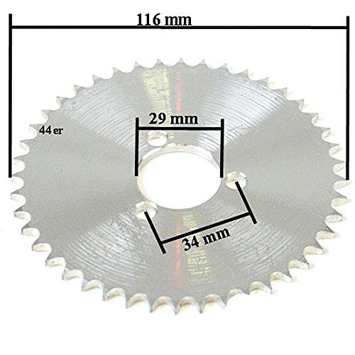 1x 44er Ritzel Kettenrad für Mach1 Elektro Scooter mit dicker Kette