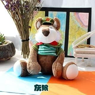 EOFK Candice Guo Plush Toy Stuffed Doll Cartoon Animal Navy Lion Tiger Elephant Zebra Ceros Wolf Monkey Gift 1Pc Must Haves for Kids Gift Sets The Favourite Toys Superhero Toys