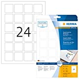 Herma 10108 - Etiquetas despegables A4, 40x40 mm, cuadrado, papel mate, 600 unidades, color blanco