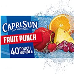 Four 10 ct. boxes of Capri Sun Fruit Punch Flavored Juice Drink Blend Capri Sun Fruit Punch Flavored Juice Drink Blend delivers fun refreshment with all natural ingredients Our ready to drink juice drink blend offers a convenient way for kids to hydr...