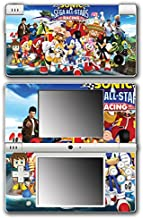 Sega All Stars Sonic Shenmue Knuckles Tails Amy Shadow Eggman Monkey Ball Racing Video Game Vinyl Decal Skin Sticker Cover for Nintendo DSi System