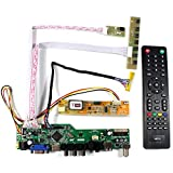 VSDISPLAY HD-MI VGA CVBS USB RF Audio LCD Motor Driver Board Controller Kit Work for 15.6 inch 1366x768 1CCFL 30Pin LVDS LCD Panel N156B3 B156XW01 LP156WH1 LTN156AT01