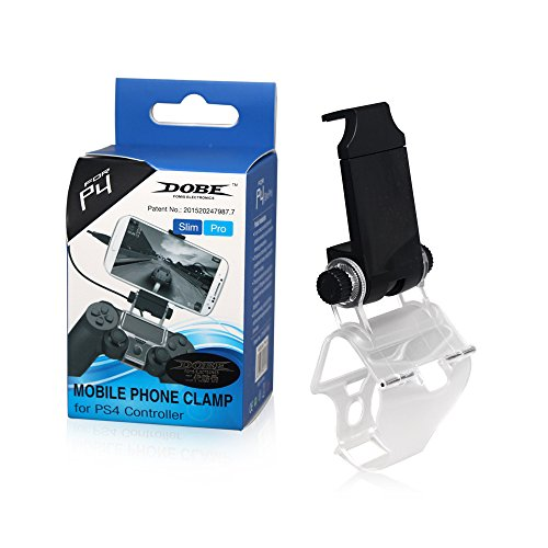 Eleganantamazing PS4 - Soporte de Sujeción para teléfono Móvil con Cable OTG para Mando Playstation 4, Color Negro