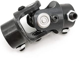 Ensun 3/4-36 Spline x 3/4 DD Black Single Steering Shaft Universal U Joint, Maximum Working Angle: 35° Degree, Total Length: 83mm (3-1/4
