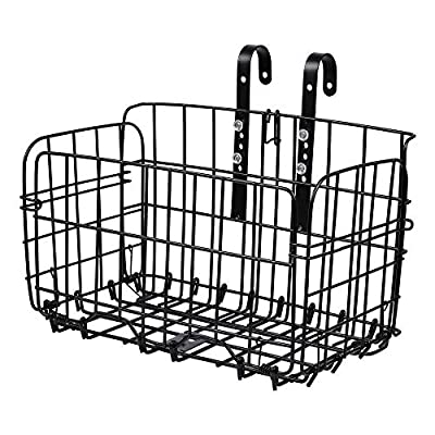 DSA Trade Shop Folding-Metal-Wire-Basket-Front-Bicycle-Bike-Storage-Carrier-Holder-Rear-Hanging Folding-Metal-Wire-Basket-Front-Bicycle-Bike-Storage-Carrier-Holder-Rear-Hanging Folding-Metal-Wire-B