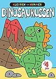Kleuren op nummer Dinosaurussen: Leer de cijfers op een leuke manier met deze schattige kleine dinosaurussen in te kleuren | Dinosaurus kleurboek voor kinderen vanaf 4 jaar