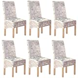 Terciopelo triturado 2/4/6 piezas XL Fundas para sillas para sillas de comedor, fundas para sillas para comedor Banquete de boda Decoración para fiestas (6 Pack(XL),Luz de oro-G)