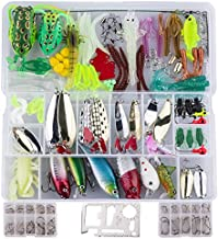 Ithuriel 239pcs Fishing Lure Set Including Plastic Soft Lures Frog Lures Spoon Lures Hard Lures Popper Crank Rattlin Freshwater or Saltwater Trout Bass Salmon Fishing Baits Tackle