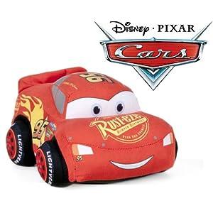 51bihcM3e9L. SL500 . SS300  - Cars - Peluche coche rojo Rayo McQueen 24cm Calidad super soft + Mochila guardería 24 cm