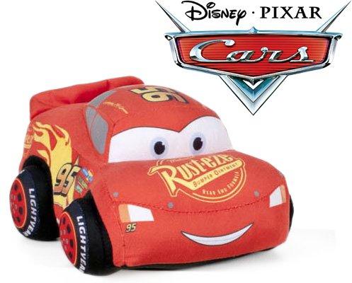 51bihcM3e9L. SL500  - Cars - Peluche coche rojo Rayo McQueen 24cm Calidad super soft + Mochila guardería 24 cm