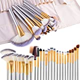 Makeup Pinsel, Vander 24Pcs Makeup Pinsel Set Cosmetics Professional Essential Makeup Pinsel Set Kits mit Reise Tasche, Champagner