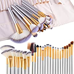 PREMIUM SYNTHETIC MAKEUP BRUSHES - Made with soft Cruelty-Free Synthetic and Dense synthetic fibers no skin hurting,suitable for even the most sensitive skin, to provide a high definition finish with liquid, powders or cream foundation without any ab...