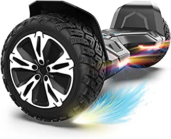 Gyroor Warrior 8.5 inch All Terrain Off Road Hoverboard with Bluetooth Speakers and LED Lights UL2272 Certified Self Balancing Scooter 2018 Black