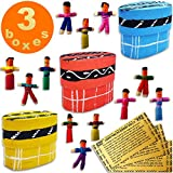 Worry Dolls in a Box from Guatemala - Super Cute Little Worry Dolls - Worry Doll - People - Mayan - Trouble - Anxiety - Guatemala Dolls - (1 in) (3 Boxes)