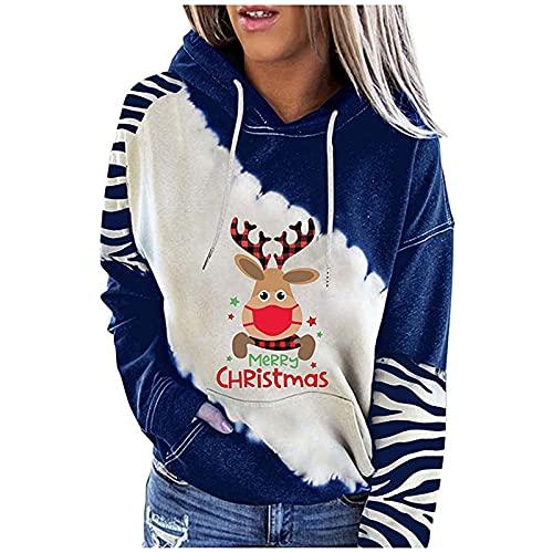 Hoodie Damen Weihnachtselch Druck Hoodie...
