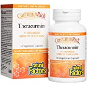 Natural Factors - CurcuminRich Theracurmin 30mg, Antioxidant Support for a Healthy Inflammatory Response, Comfortable Joints, a Healthy Heart, and Circulation, 60 Vegetarian Capsules (FFP)