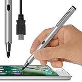 (USB充電対応) 超極細1.9mm スタイラスペン (シルバー) Renaissance ZERO 2 ルネサンス 零弐 (iPhone/iPad/iPad mini 専用) タッチ感度の調整機能付 充電池いらずのバッテリー内蔵型 スリム スマート
