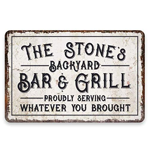 "PERSONALISED Licensee 8x10/"" Metal Sign Party BBQ Pub Gift Idea Garden Dad #123"