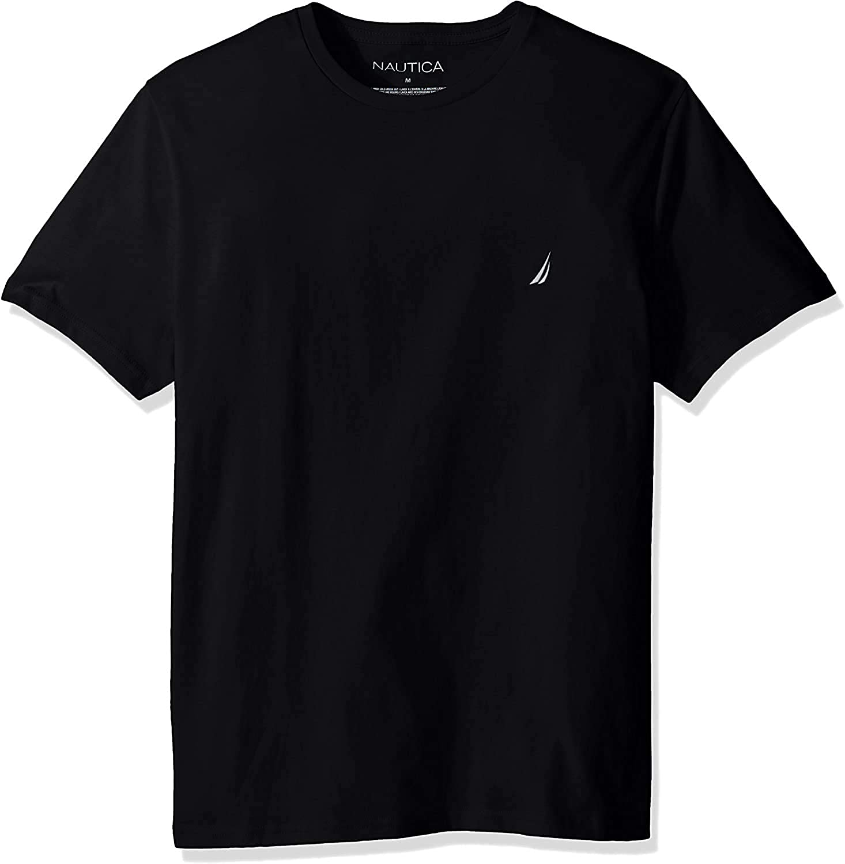 Nautica hombre de manga corta para cuello redondo Tee Camiseta